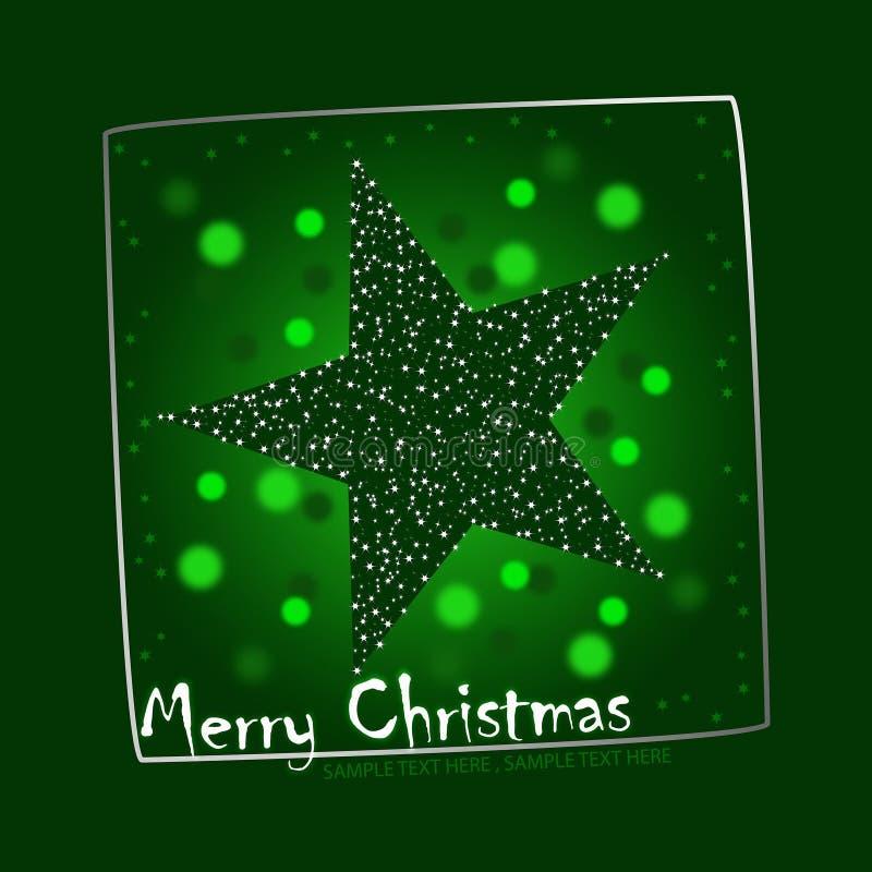 Illustration verte de carte postale d'étoile de Noël illustration libre de droits