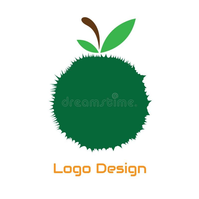 Illustration verte de fruit pour la conception de logo de fruit illustration de vecteur