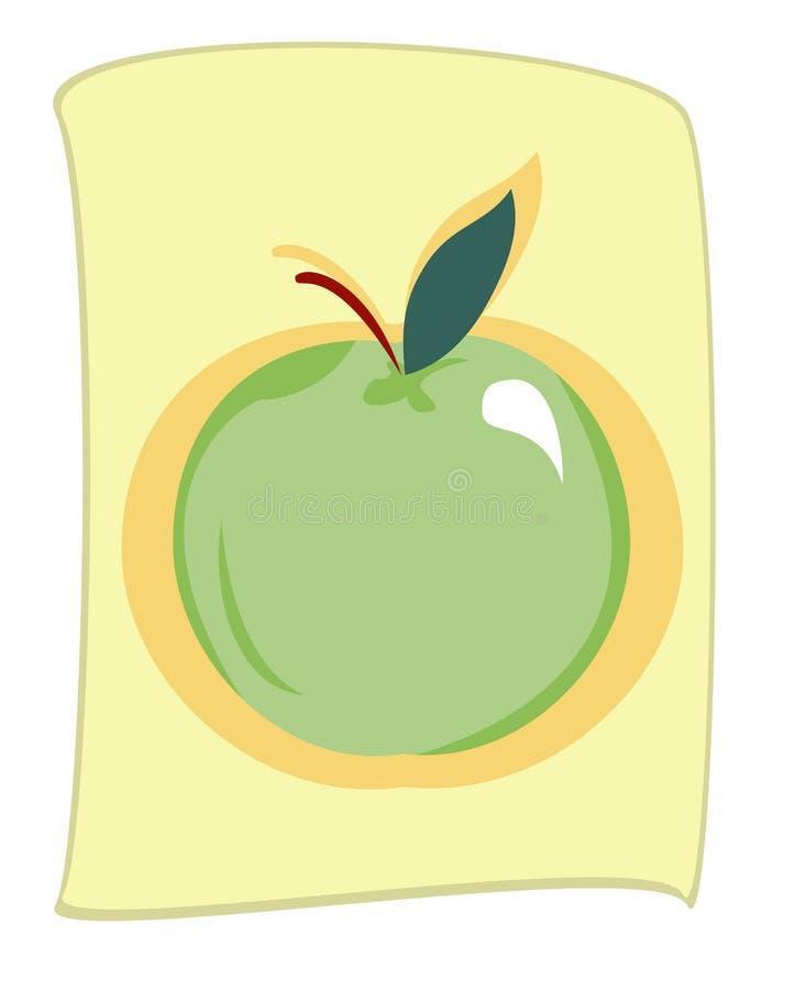 Illustration verte de pomme photo libre de droits