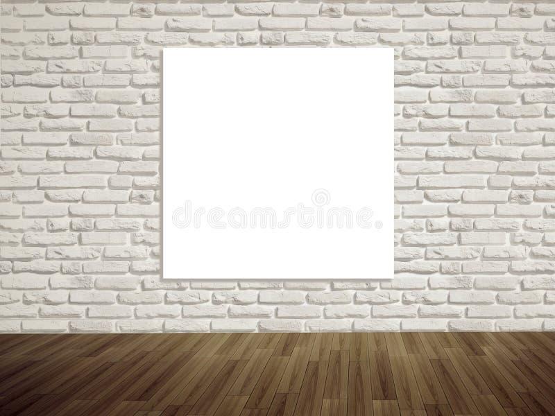 Illustration vide de galerie d'art moderne sur le mur image libre de droits