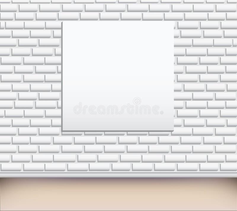 Illustration vide de galerie d'art moderne sur le mur illustration libre de droits