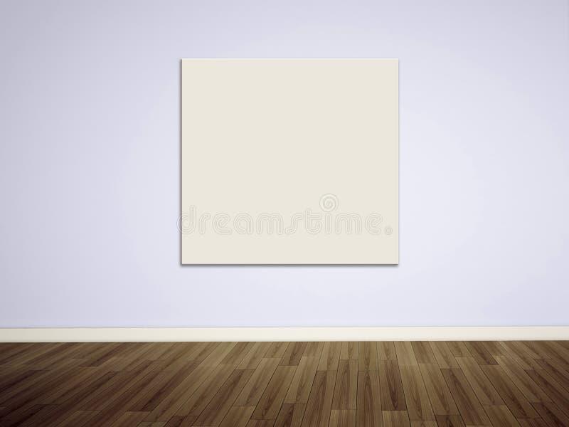 Illustration vide sur le mur blanc photographie stock libre de droits