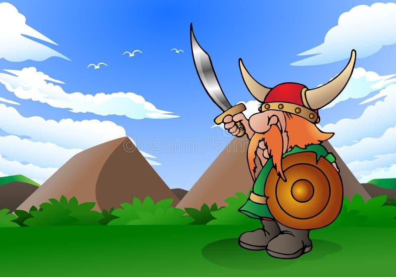 Viking man royalty free illustration