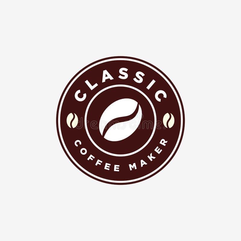 Vintage Coffee Bean Emblem Logo Design Template royalty free stock photography