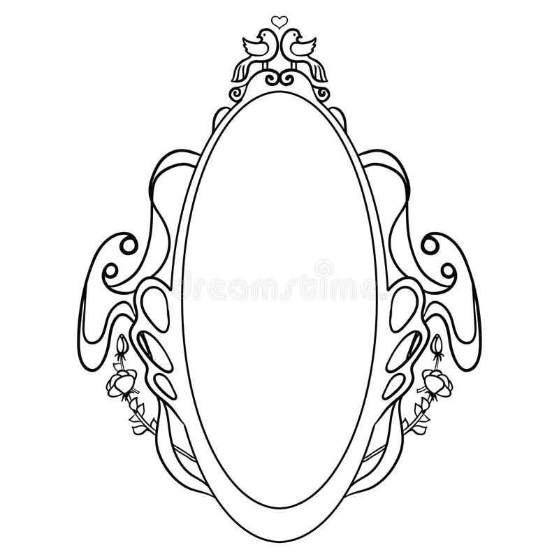 Dove Frame Royalty Free Stock Photo