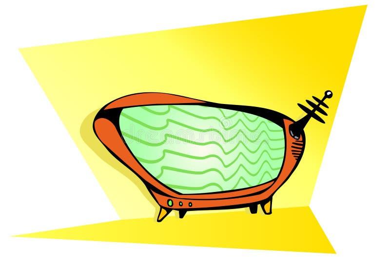 Illustration of vintage TV stock illustration