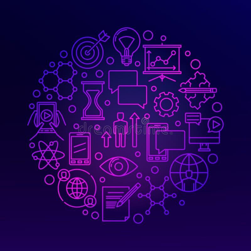 Illustration violette lumineuse d'innovation illustration de vecteur