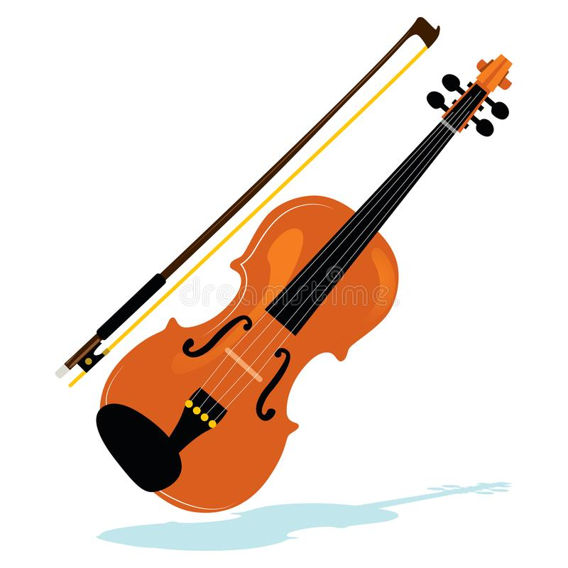 Violin With Bow royalty free illustration