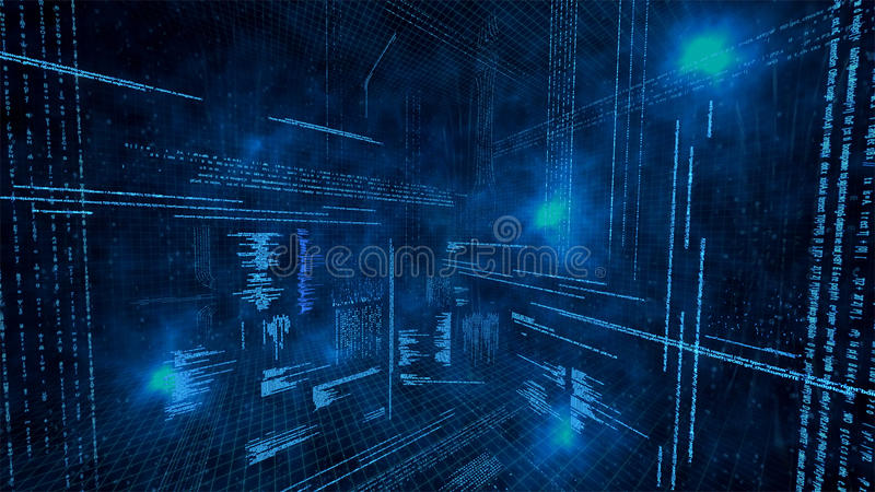 Download Illustration Of Virtual Data Stock Illustration - Illustration: 21032101