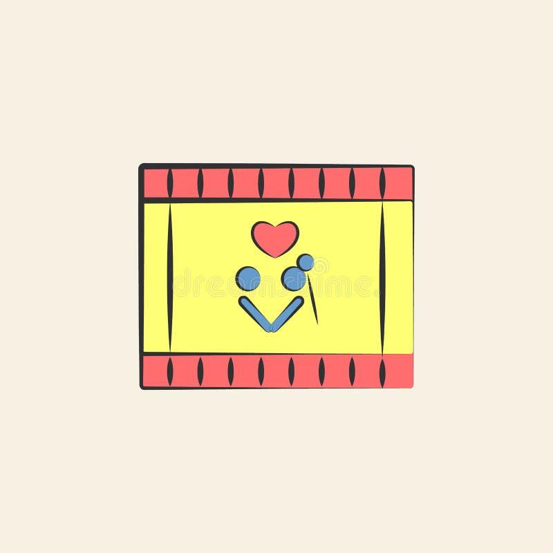illustration visuelle de croquis de mariage Élément d'icône l'épousant colorée pour les apps mobiles de concept et de Web Ico de  illustration libre de droits