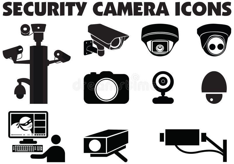 Illustration visuelle de graphique de caméras de sécurité de surveillance illustration stock