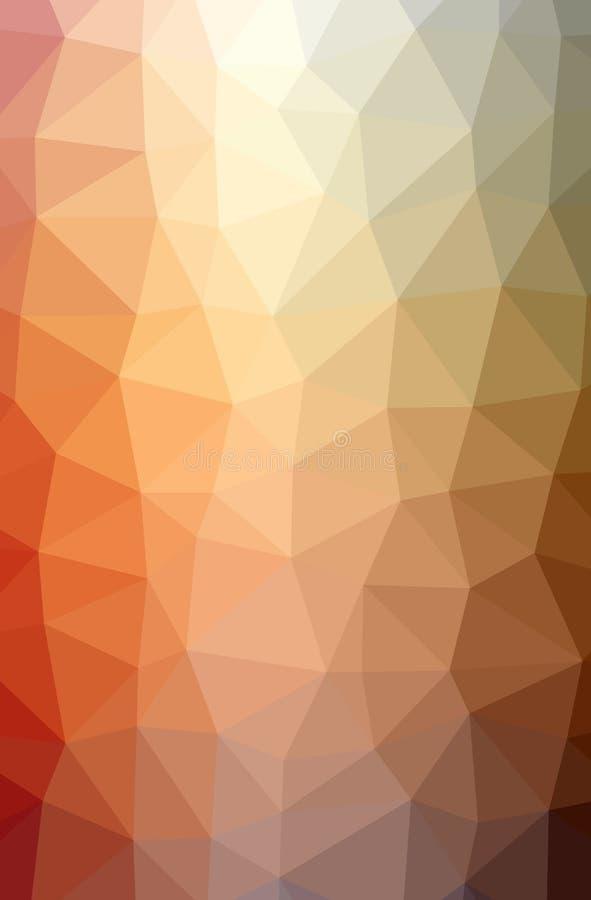Illustration von abstraktem Brown, orange vertikaler niedriger Polyhintergrund Sch?nes Polygonentwurfsmuster stock abbildung