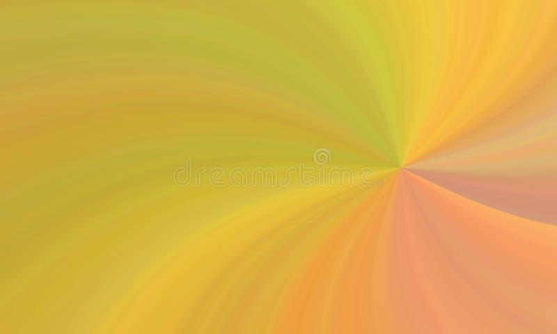 Illustration von bunten gelb-orangeen roten krummlinigen Formen stock abbildung