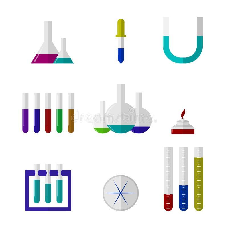 Illustration von Chemie labware vektor abbildung