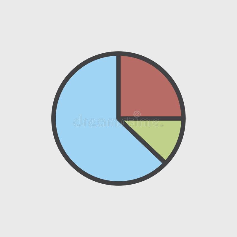 Illustration von Datenanalyse-Diagramminformationen stock abbildung