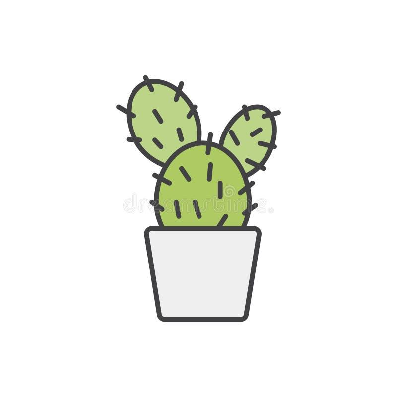 Illustration von den Zimmerpflanzen lokalisiert vektor abbildung