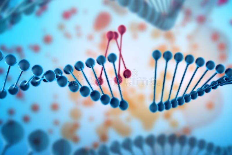 Illustration von DNA-Molekül Das schraubenartige Molekül in der Umwelt des Organismus Genetisch geändert lizenzfreie abbildung