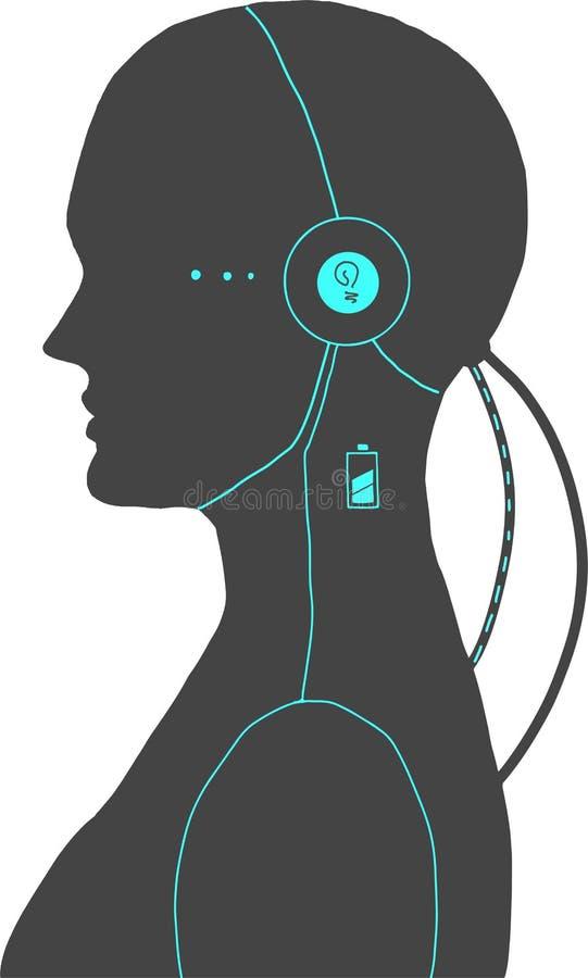 Illustration von einem androiden lizenzfreie abbildung