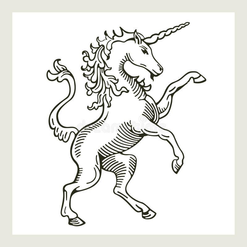 Illustration von einem zügellosen lizenzfreie abbildung