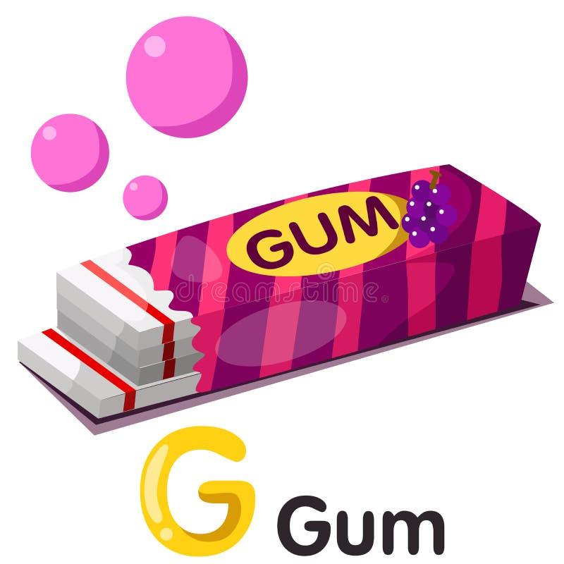 Illustration von g-Guss mit Gummi lizenzfreie abbildung