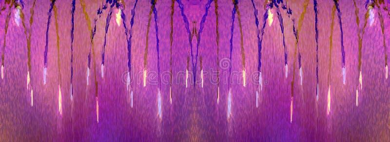 Illustration von hängenden Lichtern vektor abbildung
