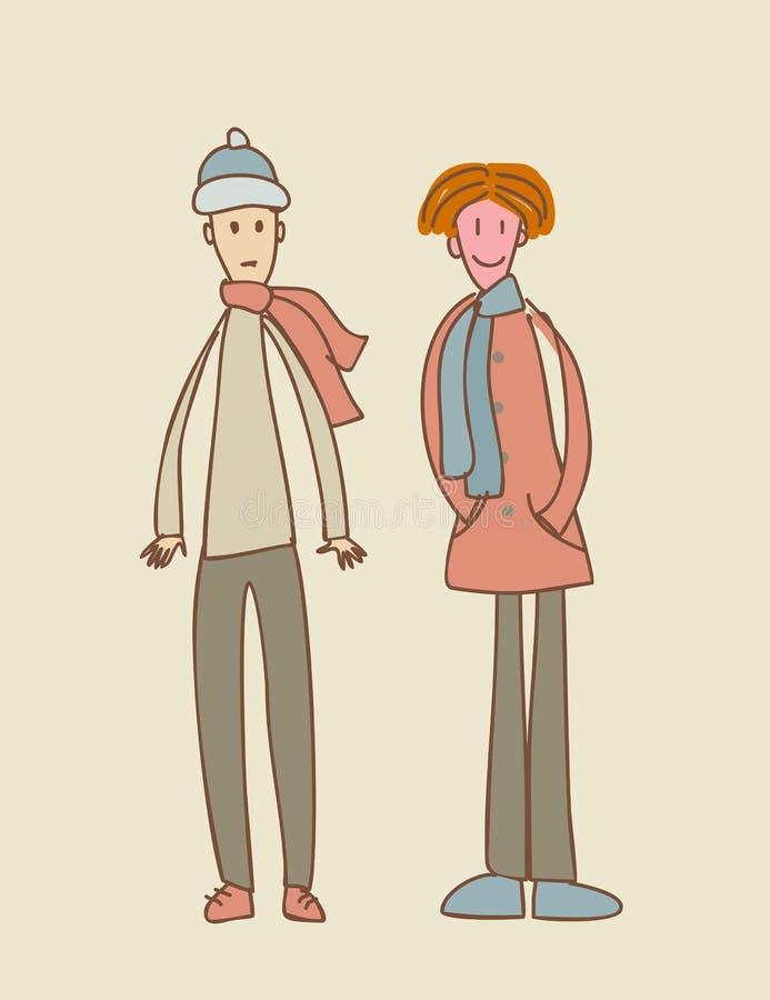Illustration von Jungen zwei lizenzfreie abbildung