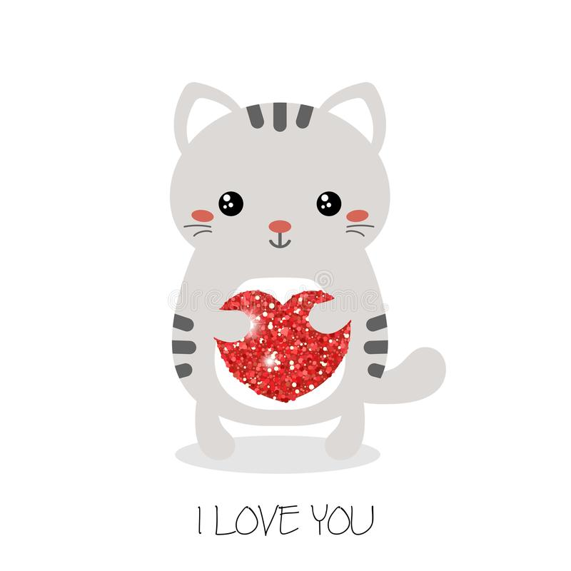 Illustration von netten Katzen stock abbildung