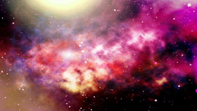 Illustration von Planeten und von Galaxie, Zukunftsromantapete verwischt lizenzfreie stockfotografie