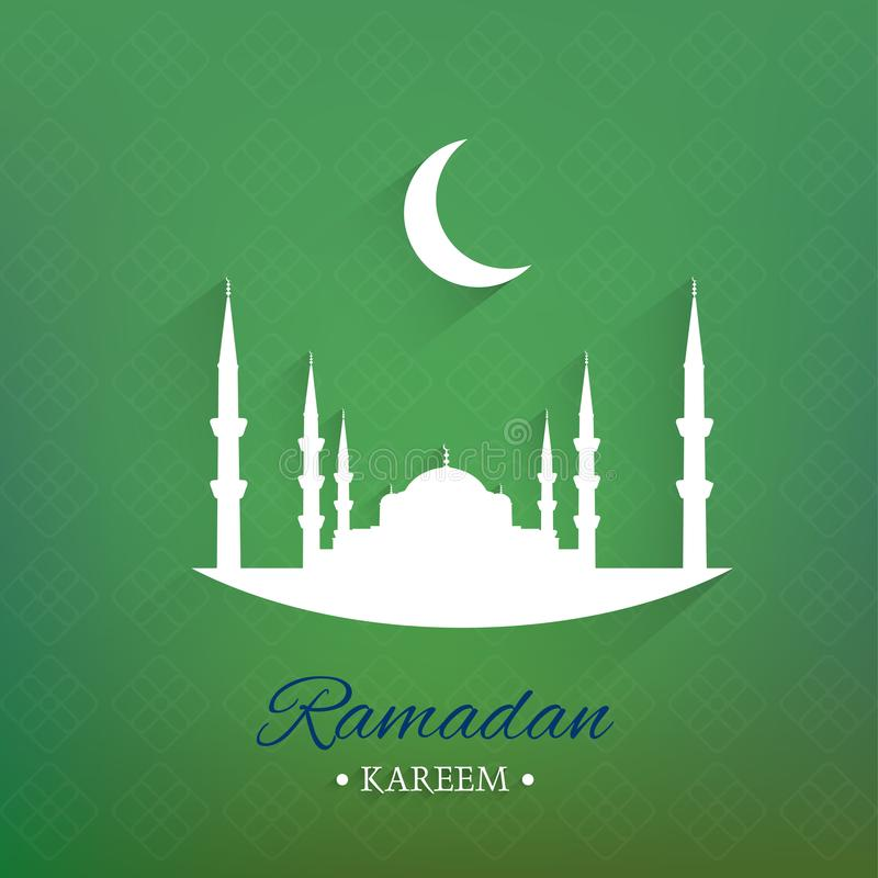 Illustration von Ramadan Kareem-Hintergrund lizenzfreie abbildung