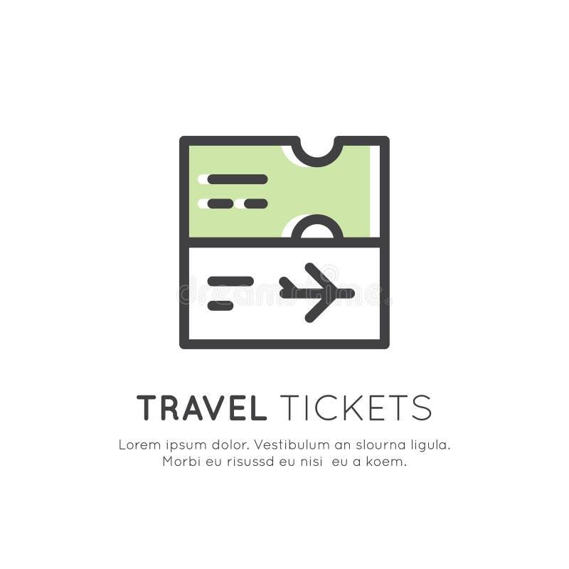 Illustration Von Reise-Karten, Einladung Und Durchlauf Stock ...