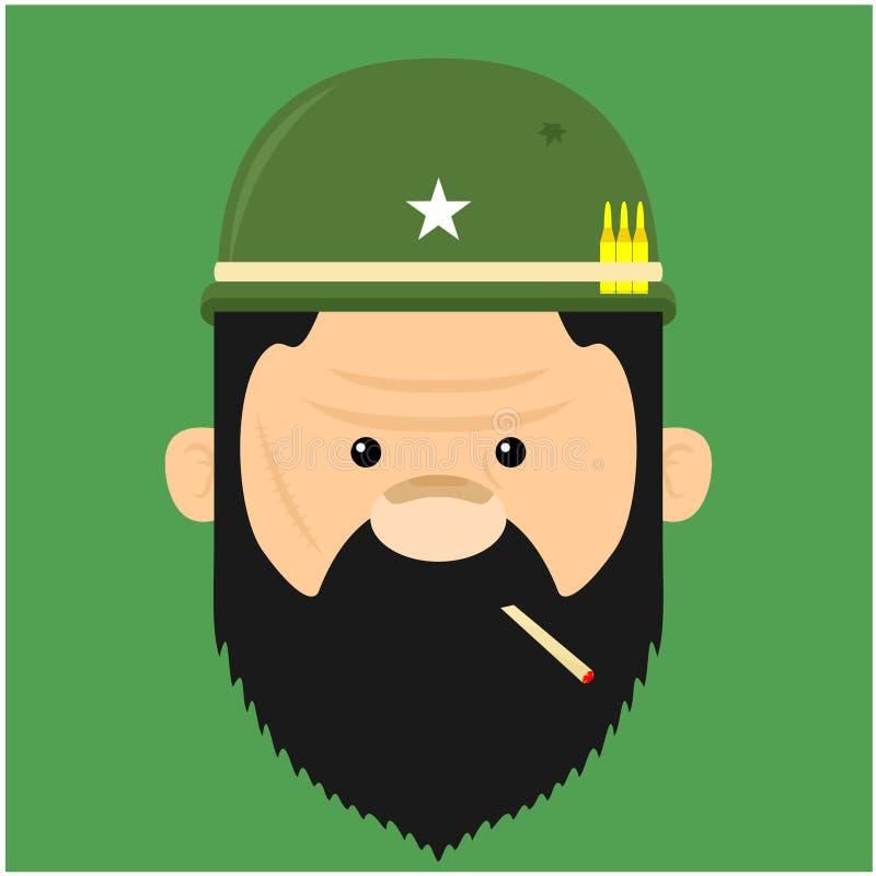 Illustration von Soldaten stock abbildung