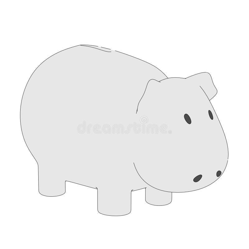 Illustration von Sparschwein vektor abbildung