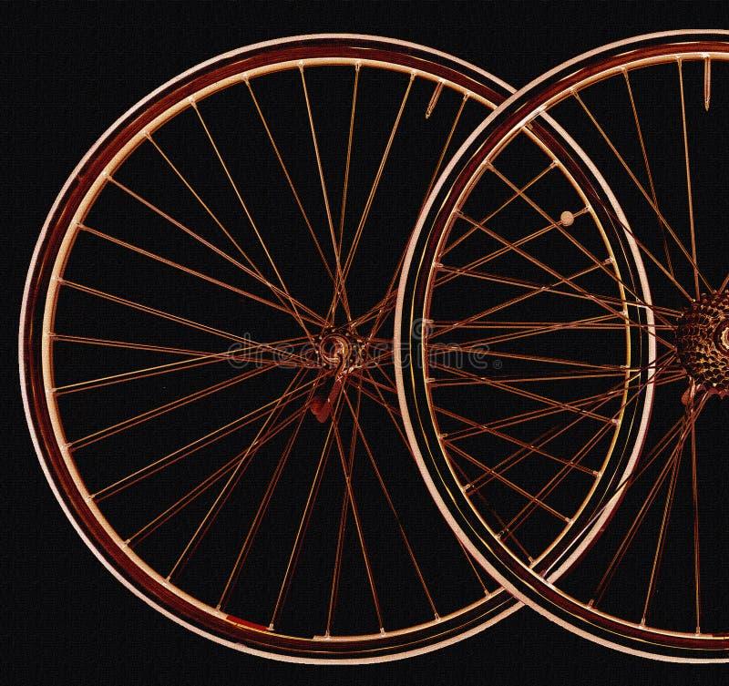 Illustration von undeutlichen Fahrradfelgen vektor abbildung