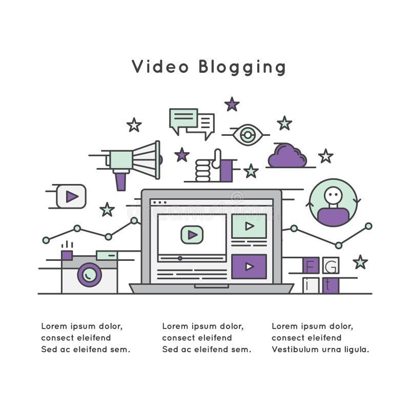 Illustration von Videoblogging vektor abbildung