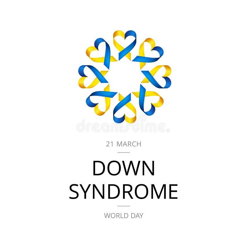 Illustration von Welt-Down-Syndrom Tag auf weißem Hintergrund vektor abbildung