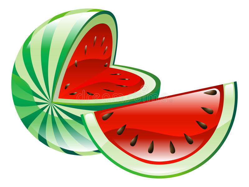 Illustration of watermelon fruit icon clipart. An illustration of watermelon fruit icon clipart stock illustration
