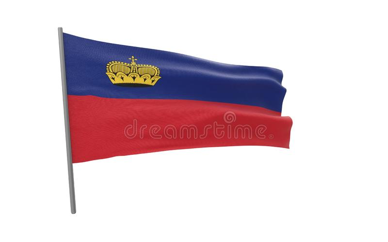 Flag of Liechtenstein royalty free illustration