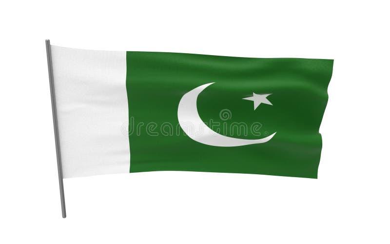 Flag of Pakistan stock illustration