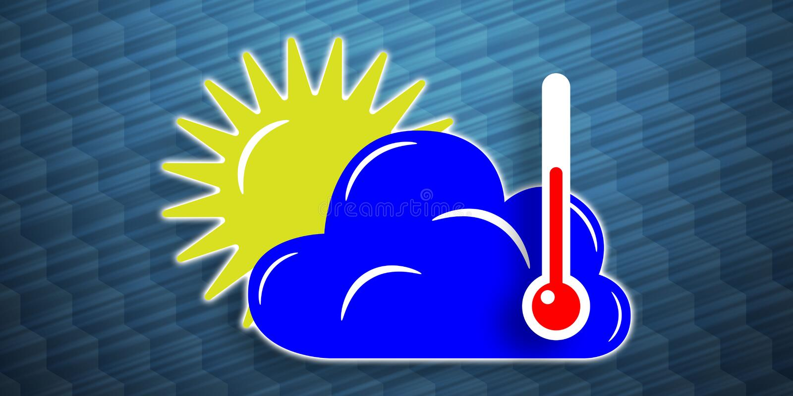 Concept of weather forecast. Illustration of a weather forecast concept royalty free illustration