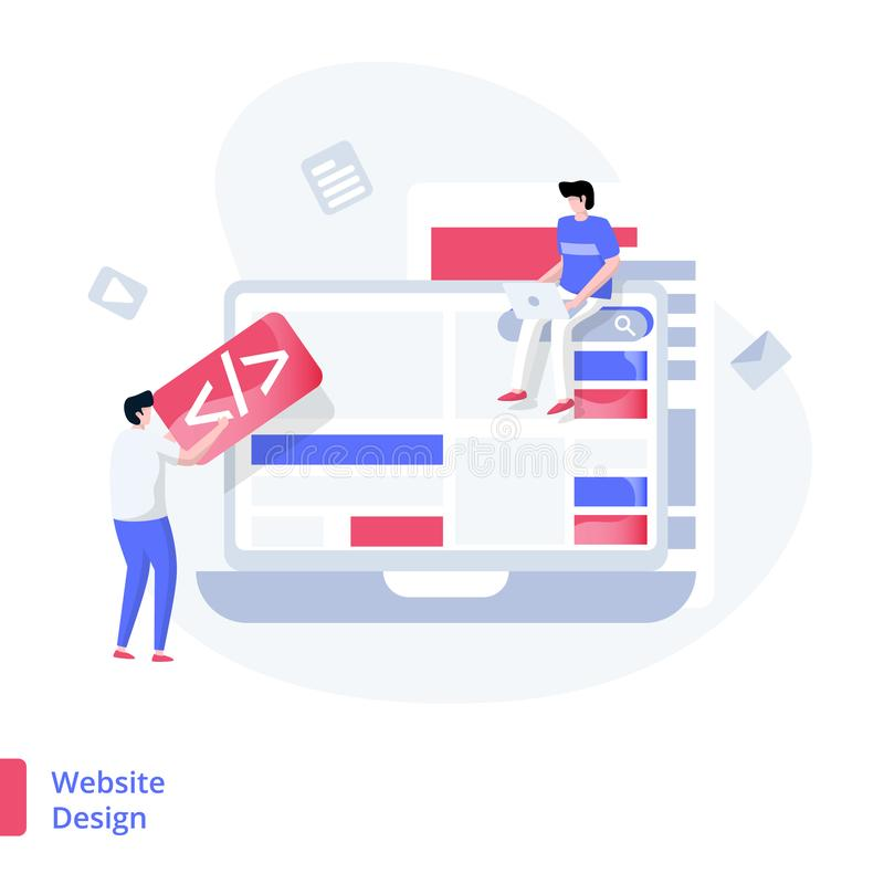 Illustration Website Design royalty free illustration