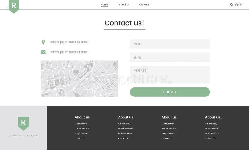 Illustration of website elements for webs design layout royalty free illustration