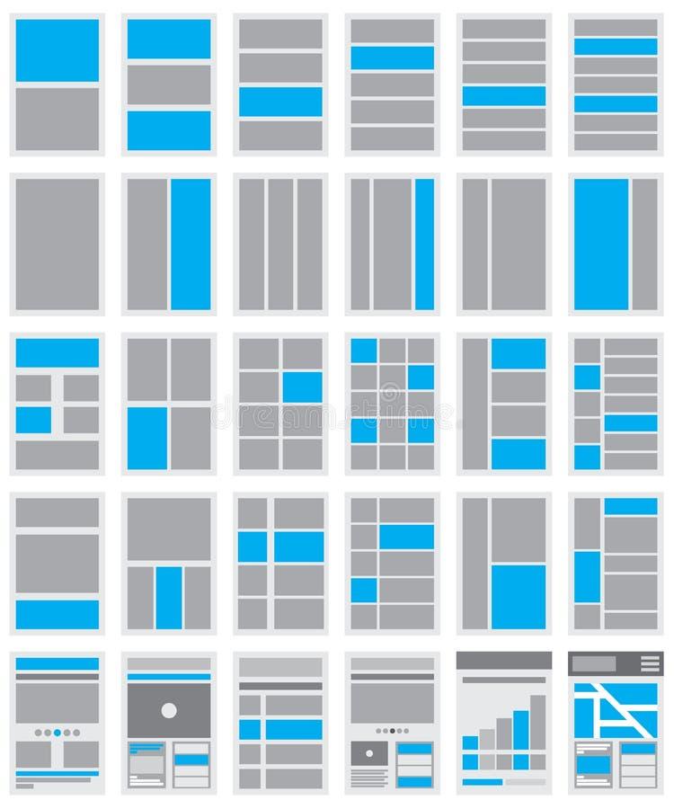 Illustration of Website Flowcharts and Site Maps. An Illustration of Website Flowcharts and Site Maps stock illustration