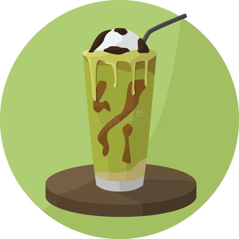Avocado Float Drinks stock illustration