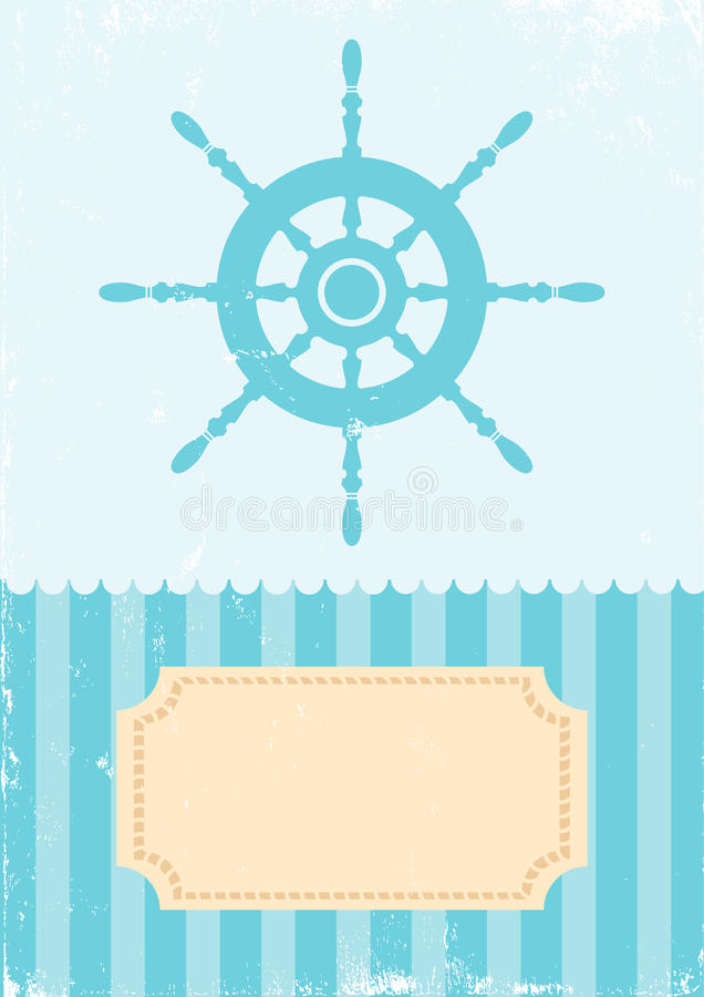 Download Illustration of the wheel stock vector. Illustration of nautical - 21236325