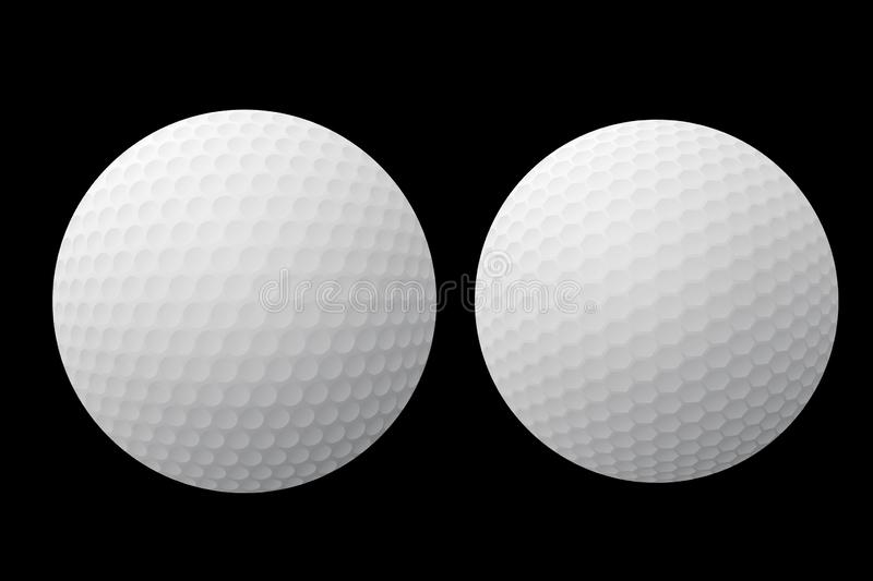 3d illustration of white golf ball on dark background. Illustration white golf ball dark background circle item object sport creative design graphic concept new royalty free illustration