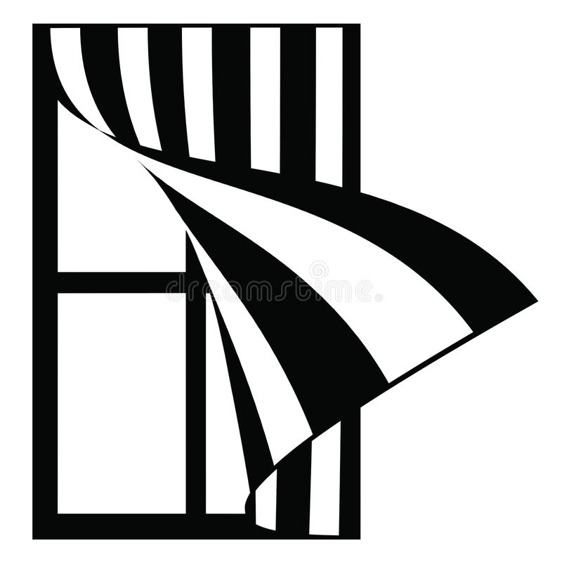 Free Illustration Window With Striped Blind Royalty Free Stock Photography - 102574827