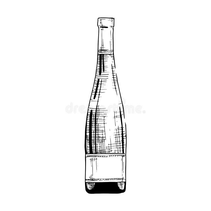 Illustration of wine bottle royalty free illustration