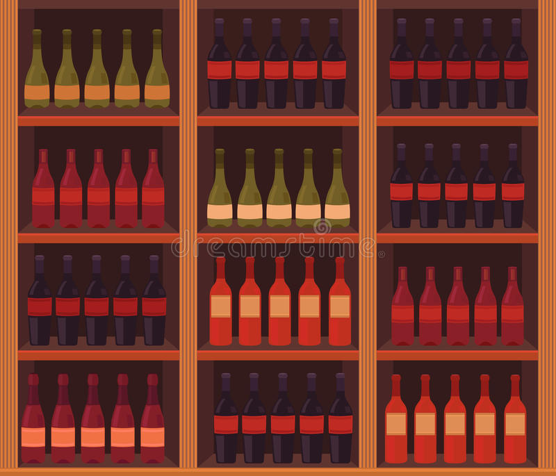 Illustration of a wine cellar. Vector illustration of a wine cellar. Production of wine. Template for menu, banner, background, poster, cover, web pages, card vector illustration