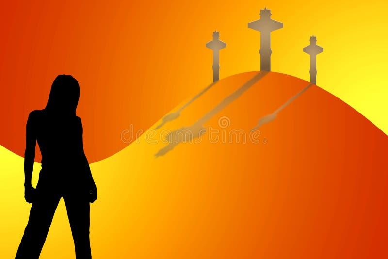Download Illustration of Woman stock illustration. Illustration of cross - 4600154
