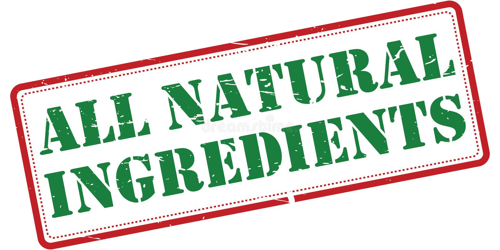 All natural ingredients stock illustration